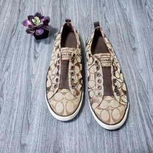 Coach Jacquard Classic C Fabric T-Shoes/Loafers